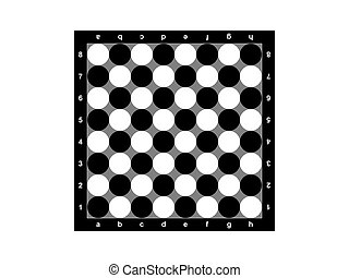 Chessboard - The chessboard on a white background