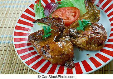 Smoked Texan chicken wings.Great for lunch, a barbecue or...