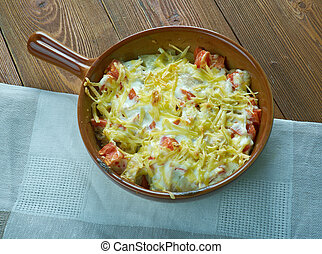 King Ranch Chicken Casserole .American dish with chicken
