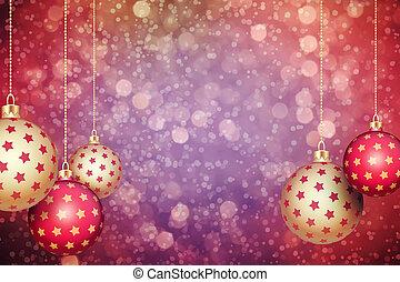Christmas balls - Set of red and gold Christmas balls...
