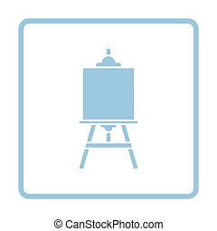 Easel icon. Blue frame design. Vector illustration.