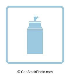 Paint spray icon. Blue frame design. Vector illustration.