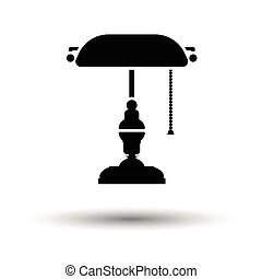 Writer's lamp icon. White background with shadow design....