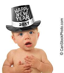 bebé, nuevo, feliz, año