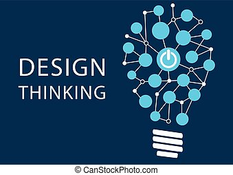 Design thinking concept. Vector illustration background of...