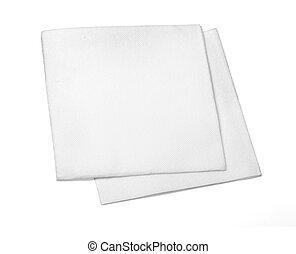 em branco, papel, guardanapo
