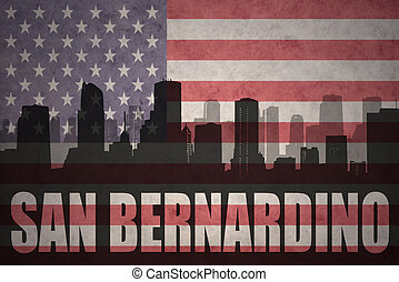 abstract silhouette of the city with text San Bernardino at...