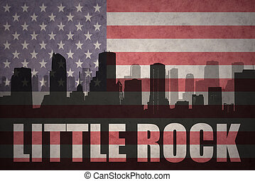 abstract silhouette of the city with text Little Rock at the...
