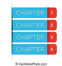 Chapter One, Two, Three, Four vector