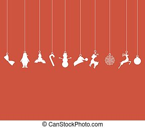 Christmas decorations of paper tape