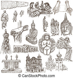 Religion around the World - An hand drawn collection