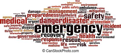 Emergency word cloud.eps - Emergency word cloud concept....