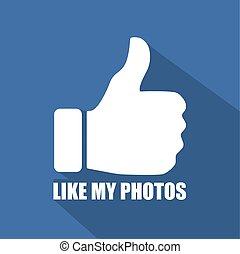 Like My Photos Flat Background - Flat Web Background,...