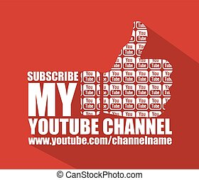 Social Media Youtube Flat Background - Youtube Channel Flat...