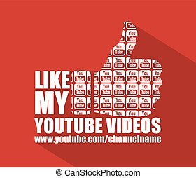 Social Media Youtube Flat Background - Youtube Flat Web...