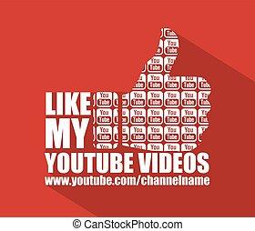 Social Media Youtube Flat Background - Youtube Flat Web...
