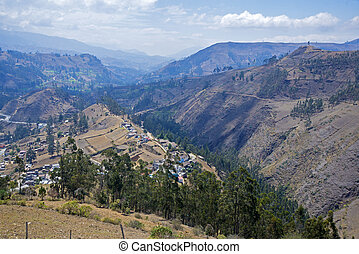 Andes mountains of Guaranda - Andes mountains surrounding...