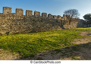 Ruins of fortress in Kavala, East Macedonia and Thrace,...