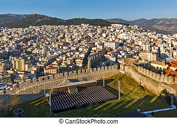 panorama from fortress to aqueduct in Kavala - Amazing...