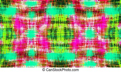 pink green blue and red plaid pattern abstract background