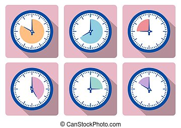 Set clock with the timer