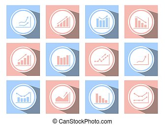 charts and graphs icons - A set of graphical icons for web...