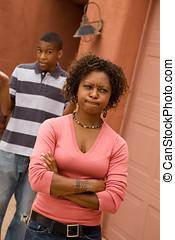africano-americano, singolo-genitore, famiglia