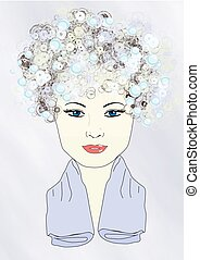 Not Tonight, Washing My Hair - Illustration of a girl with...