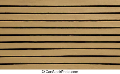 Brown Wood Siding - Brown wood siding forms a regular...