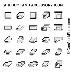 Air duct pipe icon - Vector icon of air duct pipe fitting or...