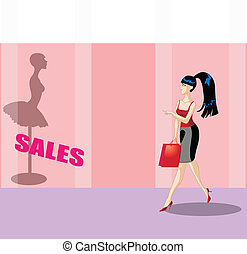 Business woman shopping - Fashionable business woman...