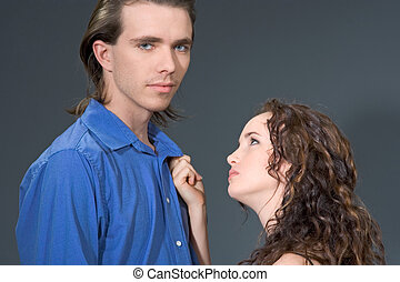 Please! - Portrait of angry loving couple