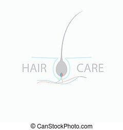 Hair care logo - Hair medical diagnostics symbol. Hair care...