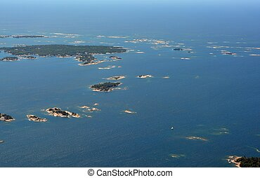 Parry Sound Islands aerial - aerial view of Islands in the...