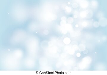 blue bokeh background for christmas and greeting card