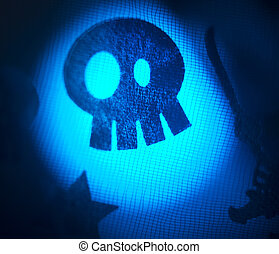 Halloween skull party trick or treat - Halloween ghost skull...