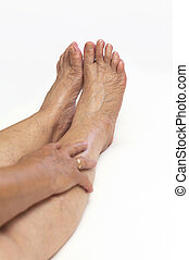 Mature feet - Female mature legs,healthcare conceptual