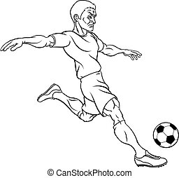 Cartoon Soccer Football Player - A soccer world football...