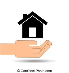 hand holding house home design