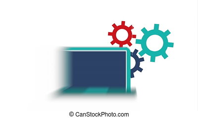 computer user technology icon video Animation HD1080