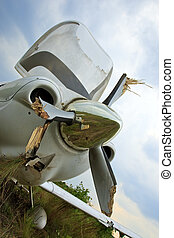 Small Airplane Crash - Small general aviation aircraft crash...