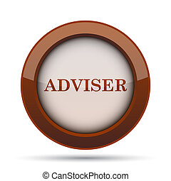 Adviser icon. Internet button on white background.