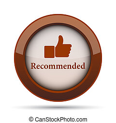 Recommended icon. Internet button on white background.