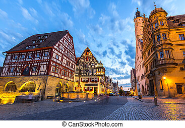 Rothenburg City hall of historic town at Rothenburg ob der...