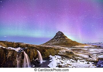 Aurora borealis Iceland - The Northern Light Aurora borealis...