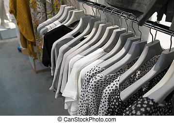 hylla, Hänga, lager, kläder
