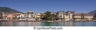 Vevey Vaud, Switzerland - details view of panorama Vevey...