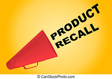 Product Recall concept - 3D illustration of 'PRODUCT RECALL'...