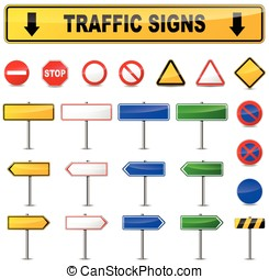 various traffic signs - Illustration of various traffic...
