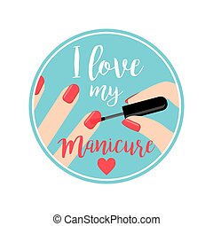 Professional Manicure poster - Professional Manicure vector...